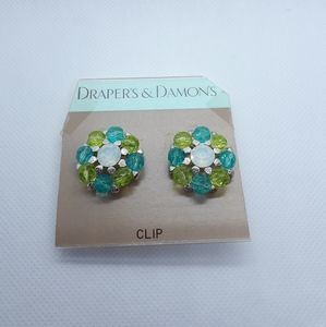 Drapers and Damonds clip on earrings